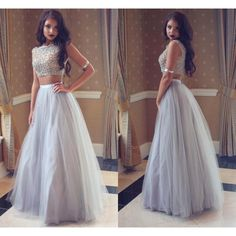 Two Pieces Prom Dress Party Gown Cocktail Formal Wear pst1505 – BBtrending