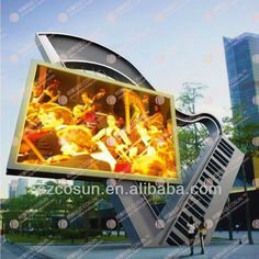 Outdoor led display screen TV stainless steel Tower $100~$10000
