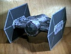 Free 3D Paper Model : Star Wars - TIE Fighter Interceptor Paper Model - by Conrad Mitchell at Papermau