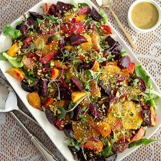 Roasted Beet and Citrus Salad by snixykitchen #Salad #Beet #Citrus Fruit In Season, Fruits And Veggies, Summer Salads, Paella, Vegetable Pizza, Barbecue, Fresh, Good Food, Healthy