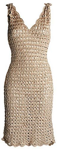 broomstick lace #crochet dress