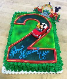 Mickey Mouse Cake with Number Shaped Road