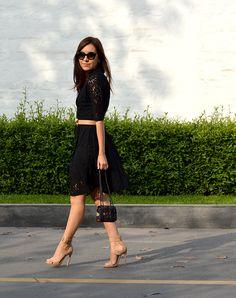 tana rendon vestido negro 1