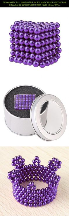 DIY Magnetic Ball Cube Puzzle 216 pcs Magic Beads Desk Toy for Intelligence Development Stress Relief Metal Toys (Purple) #shopping #kit #products #stress #gadgets #plans #magnetic #technology #fpv #drone #camera #parts #balls #tech #racing