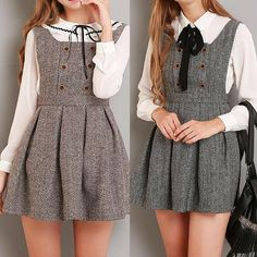 XS-L Grey/Coffee A Shape Sleeveless Dress SP154284