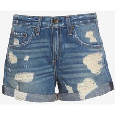 rag & bone/JEAN Obispo BF Rebel Short ($169) ❤ liked on Polyvore featuring shorts, pants, zipper shorts, cuffed shorts, torn shorts, destroyed shorts en ripped short shorts