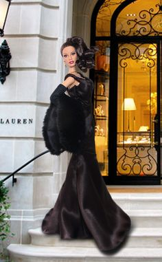 Waiting for my Limousine in front of Ralph Lauren Shop.