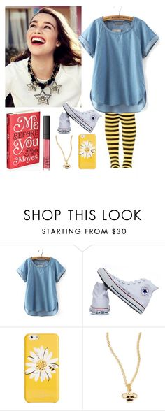 """""""Lou Clarke"""" by princess-of-trenzalore ❤ liked on Polyvore featuring Converse, Kate Spade and NARS Cosmetics"""