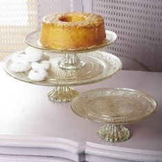 Antiqued Silver And Glass Cakestand
