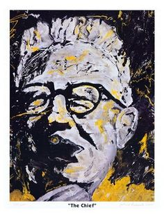 Pittsburgh Steelers The Chief Art Rooney Print by JohnosArtStudio. $100.00 USD, via Etsy. - for our Steelers shrine room.