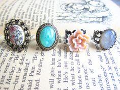Ring Set by Jewelsalem, $10.99 http://www.etsy.com/shop/Jewelsalem?ref=si_shop