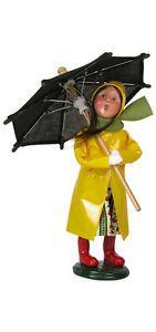 byers choice carolers   Byers Choice Caroler Umbrella Girl Spring Open House 2013 Signed Joyce ...