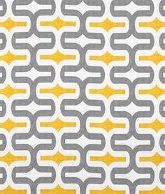 Premier Prints Embrace Storm/Corn Yellow Slub Fabric - $7.1649   onlinefabricstore.net