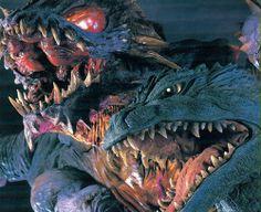 Godzilla and other kaiju, headshot
