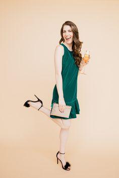 Brooke du jour | Velvet dress