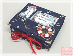 "Le Petit Ange: Χειροποίητο κουτάκι ""Ο θησαυρός της μαμάς Nautical..."