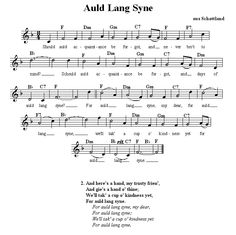 Insane image regarding auld lang syne lyrics printable