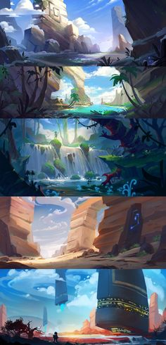 Landscape speedpaints by lepyoshka.deviantart.com on @DeviantArt