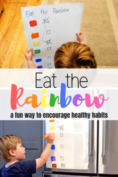 Teach Healthy Eating Habits with Eat the Rainbow Activity Marisa Bozzano Healthy Eating Games, Healthy And Unhealthy Food, Healthy Food Choices, Healthy Kids, Healthy Habits, Rainbow Activities, Preschool Activities, Preschool Food, Nutrition Activities