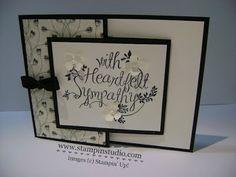 Stampin' Studio, Stampin' Up! Heartfelt Sympathy, Timeless Elegance Designer Series Paper, Sympathy Card