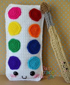 Free Crochet Pattern for the Watercolor Set Kawaii Cuddler™ by Donna Beavers - All Free Crochet, Love Crochet, Crochet Baby, Kawaii Crochet, Crochet Pouch, Crochet Elephant, Beginner Crochet, Elephant Pattern, Crochet Pillow