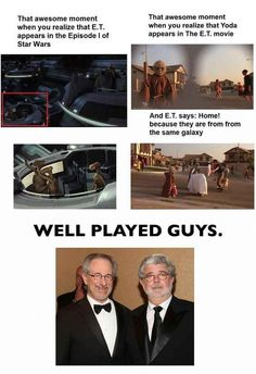 """The """" E.T. and Star Wars happen in the same universe"""" theory: 
