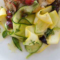 Lemony Zucchini with Basil