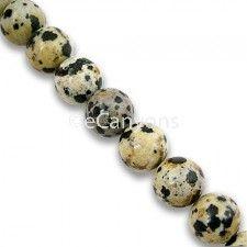 8mm Dalmatian Stone Beads   Price : $3.99