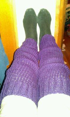 I made legwarmers!