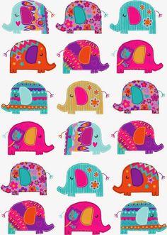 Imprimolandia: Estampado de elefantes Elephant pattern