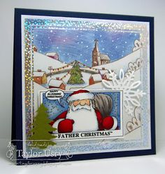 The Quiet Moments: Father Christmas colored with @SpectrumNoir featuring @Crafter'sCompanion stamps and dies