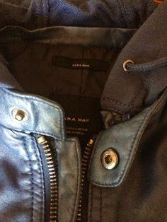 Fierce Blogs: Zara Man Jacket - Faux Leather Jacket with Hood (Color Blue) Leather Jacket With Hood, Faux Leather Jackets, Zara Man Jacket, Color Blue, Mens Fashion, Accessories, Style, Moda Masculina, Swag