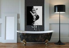 Obraz na płótnie 80x100 cm MIŚ - Ozdoby na ścianę - Dekoracje ścienne - Stworzone z miłością w Bagniewo, Polska przez LUdesign-gallery | swobodny, wygodny | z motywem | Indywidualizacja |  ♥ DaWanda ♥ Handmade ♥ Unikalne produkty ♥ Pomysły na prezent ♥ DIY ♥ Design ♥ Stworzone z sercem ♥