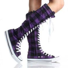 Converse Knee High Boots | 12 Fashionable Knee High Converse Shoes with Buckles for Women