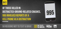 41 50 no texting Dont Text And Drive, Trauma Center, Distracted Driving, Driving School, Texting, Text Messages, Safety, Facts, Let It Be