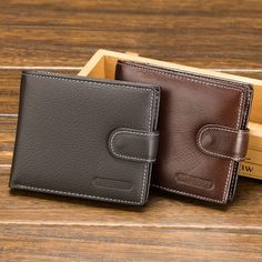 Baellerry Genuine Leather Men Wallets Fashion Organizer Bussiness card holder Purse Billfold Buckle Coin money bag New 2018 Leather Men, Leather Wallet, Bussiness Card, Men's Bags, Card Holder, Free Shipping, Purses, Fashion, Bags