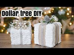 New diy christmas centerpieces dollar stores inspiration 59 ideas Dollar Tree Gifts, Dollar Tree Christmas, Dollar Tree Decor, Diy Christmas Gifts, Christmas Projects, White Christmas, Christmas 2017, Christmas Trees, Christmas Room