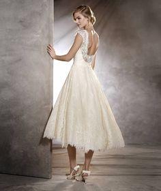 OLGA - Kurzes Brautkleid im Vintage-Stil aus Spitze