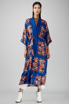 Stevie Howell Ranunculus Printed Long Kimono Robe - WOMEN - JUST IN - Stevie Howell