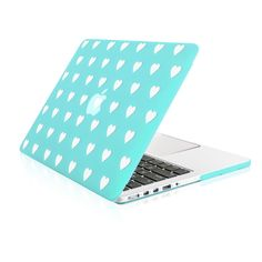 """Hot Blue Heart Shape Design Ultra Slim Light Weight Hard Case Cover for Apple MacBook Pro 15"""" with Retina Display Model: A1398"""