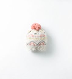 Image 1 of BEANIE WITH FUR BORDER AND POMPOM from Zara