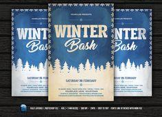 Vintage Winter Bash Flyer by DesignWorkz on @creativemarket