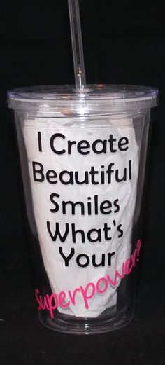 Dentist Appreciation Personalized Tumbler 16oz. $12.00, via Etsy.