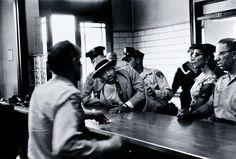 MLK arrested, Alabama, 1958, by Charles Moore