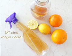 DIY citrus vinegar cleaner