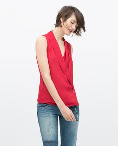 Image 3 of CROSSOVER TOP from Zara