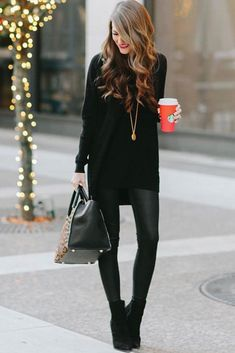 18 Newest Christmas Outfits Ideas - What to Wear to a Holiday Party ★ Classic christmas outfits Ideas with Pants picture 3 ★ See more: http://glaminati.com/christmas-outfits-ideas/ #style #fashionista #fashion #christmasoutfitwomen #christmasoutfit #festivewear