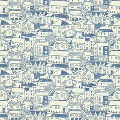 st. ives wallpaper in indigo/ivory from sanderson. colour for living collection.