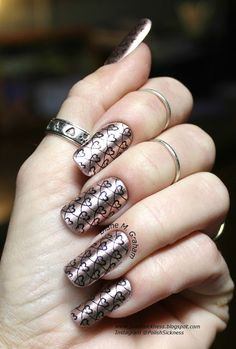 Sally Hansen Color Foil Chrome Copper, MdU Black, Dana 2 stamping plate