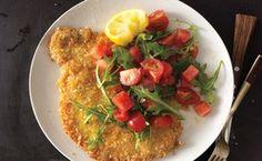 Pork Tonkatsu with Watermelon-Tomato Salad